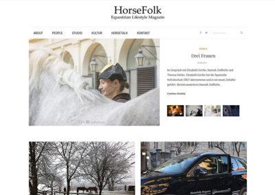 Website HorseFolk Magazin