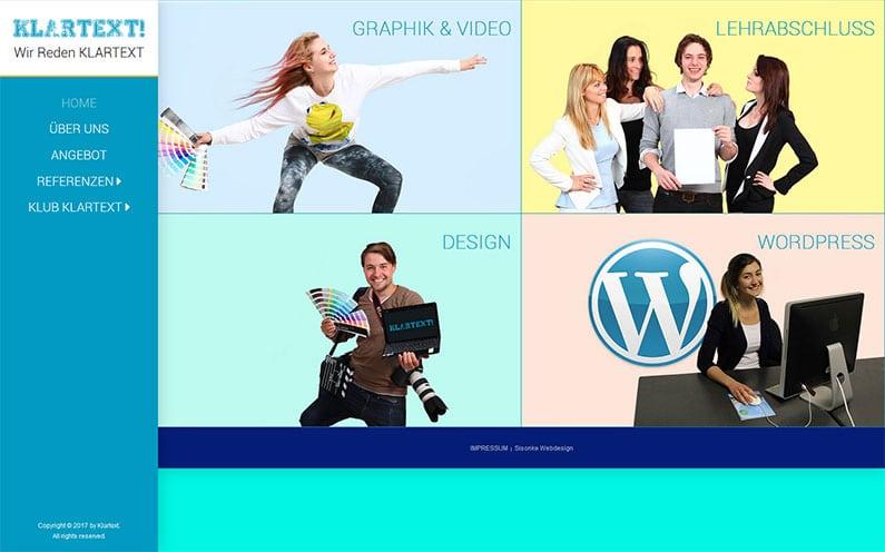 Website weiterbildung klartext sisonke webdesign for Weiterbildung design