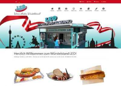 Website Würstelstand LEO