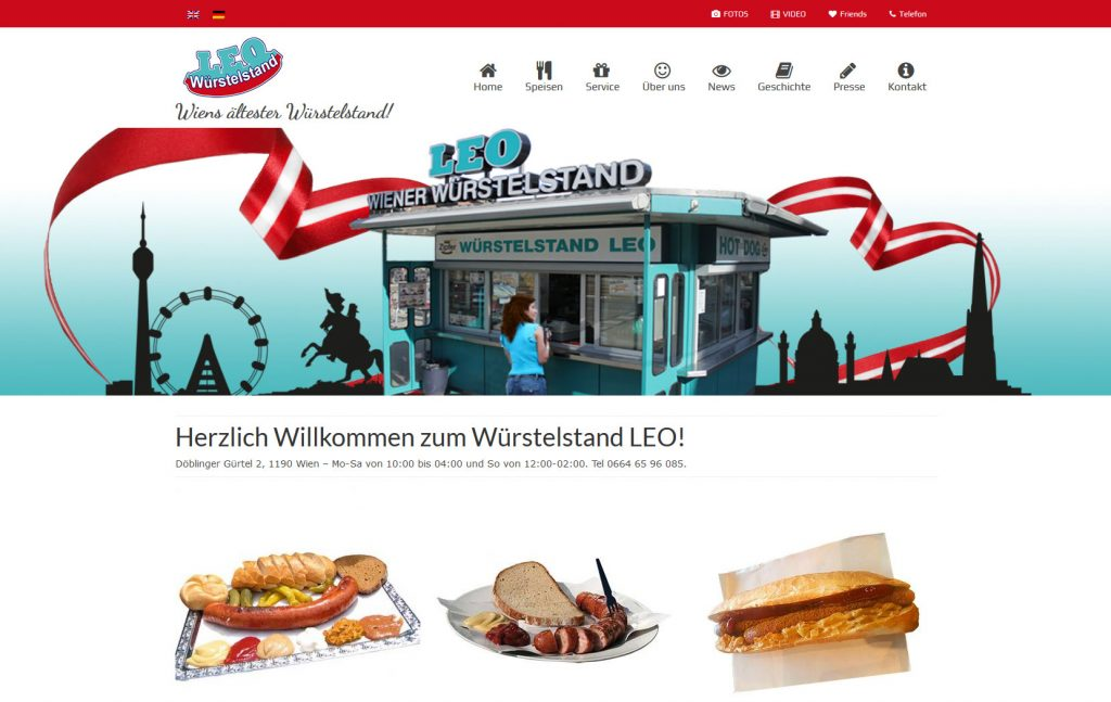 Website Würstelstand LEO