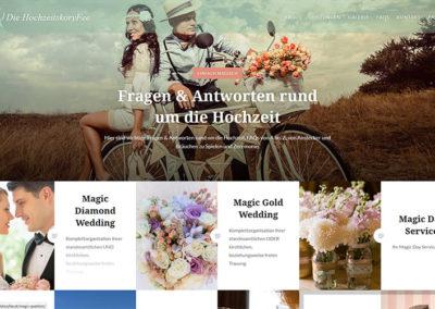 Website Hochzeitsplanung